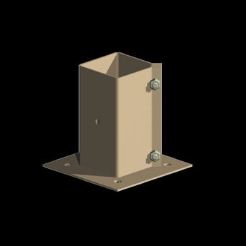Metal Post Holder (For Concrete) (9 x 9 x 150)