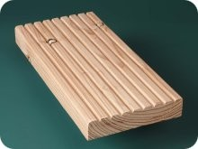 Larch ribbed decking