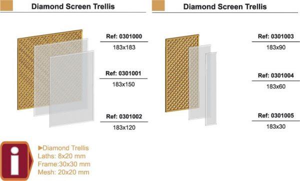 Larch diamond trellis 600 x 1.83