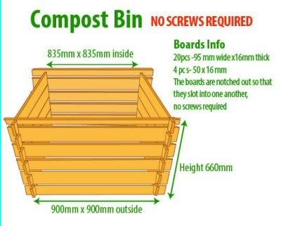 Larch Compost Bin